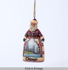Jim Shore Santa Ornament - Chicago