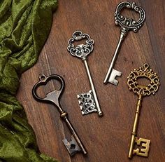 Keynotes Collection: Antique Key Bottle Opener - Large - Unique Gift!