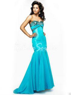 Robe de Soirée Longue-Elégant et stylé classique robe bustier bleue