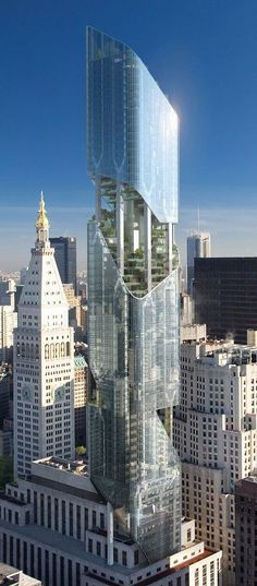 The New York Tower / One Madison Avenue Tower, New York City designed by Daniel Libeskind Architects :: 54 floors, height 274m :: proposed, on hold