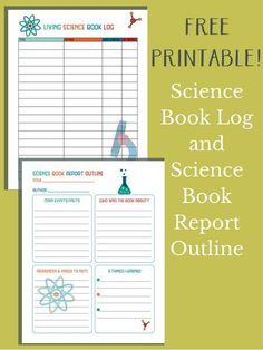 Science Book Log and Science Book Report Outline - Everyday Graces Homeschool Products and Curriculum - Homeschool Science Curriculum, Science Activities For Kids, Science Resources, Science Books, Science Fair, Teaching Science, Science Experiments, Homeschooling, Science Ideas