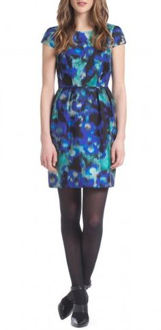 Shoshanna Barbara Dress- not loving the stockings with this dress, but think it is otherwise beautiful for fall
