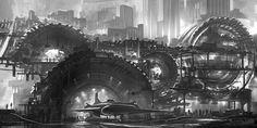 Feng Zhu Design: Sci-Fi In B/W