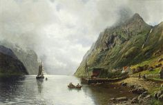 Old picture Norwegian Fjord