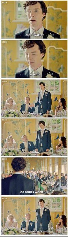 Sherlock and his pet Jawn