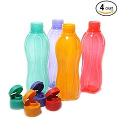STAINLESS LID TURQUOISE 1.0L GRIP /& GO REUSABLE GLASS BOTTLE