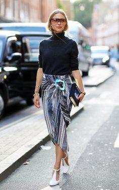 Гостья показов Недели моды в Лондоне