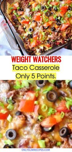 Weight Watchers Taco Casserole // #weightwatchersrecipes #smartpointsrecipes #WeightWatchers #weight_watchers #Healthy #Skinny_food #recipes #smartpoints #Casserole