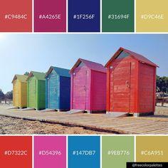 Rainbow Beach | Color Palette Inspiration  Great for digital art and brand colors. Beach Color Palettes, Colour Pallette, Paint Schemes, Color Schemes, Color Trends, Color Combos, Pallet Painting, Crazy Colour, Color Studies