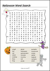 hard halloween word search for kids - Halloween Word Searches For Kids