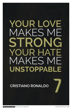 """Cristiano Ronaldo Quote on Print. See more at www.finesportsprints.com #ronaldo #sportsquote #realmadrid"""