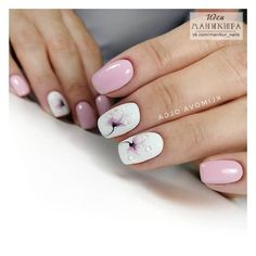 Gel Nail Designs You Should Try Out – Your Beautiful Nails Nail Designs Spring, Gel Nail Designs, Stylish Nails, Trendy Nails, Pastel Nails, Acrylic Nails, Manicure E Pedicure, Nail Decorations, Flower Nails