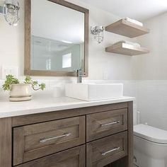 Walnut Stained Washstand with Overmount Sink