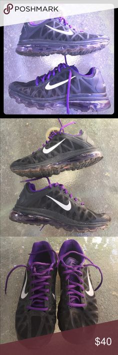 NIKE AIR MAX-2011 BLACK PURPLE 429889-005-SIZE-9 NIKE-AIR-MAX-2011-BLACK-COOL-GREY-PURPLE-RUNNING-SHOES-429889-005-SIZE-9 Nike Shoes Sneakers
