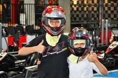 JUNIOR KARTS K1 Speedway San Diego.  Great place for a birthday party