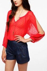 Blusas rojas elegantes 4