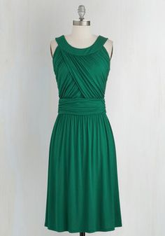 So Happy to Gather Dress in Fern. Nothing makes you gladder than your pals, especially when you're hanging with them in this great green dress! #green #modcloth