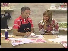 Rosas em pintura adesivada e molhada com Luis Moreira - Vitrine do Artes...
