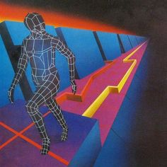 Keep pushing on  #80s #1980s #art #retro #retroart #80sart #vintage #BerneBastian #BERNE #BASTIAN