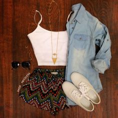 #ootd #simple #basics #denim throw your favorite denim button up over your basic top!