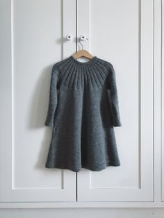 Ravelry: Harald's Dress pattern by PetiteKnit Girls Knitted Dress, Crochet Girls, Knit Dress, Knit Crochet, Knitting For Kids, Baby Knitting Patterns, Elastic Thread, Knit In The Round, How To Purl Knit