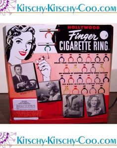 Finger cigarette ring