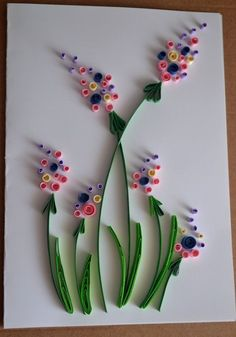 Items similar to Quilled Greeting Card, Birthday Card, Mother's day card, Quilling art on Etsy Paper Quilling Flowers, Paper Quilling Cards, Quilling Work, Paper Quilling Patterns, Origami And Quilling, Quilled Paper Art, Quilling Paper Craft, Paper Flowers Diy, Flower Crafts