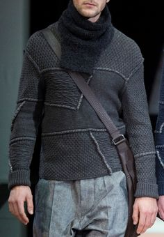 Giorgio Armani F/W 2015 Menswear Milan Fashion Week   Men's Sweaters/Knitwear   Men's Casual Outfit   Moda Masculina   Shop at designerclothingfans.com