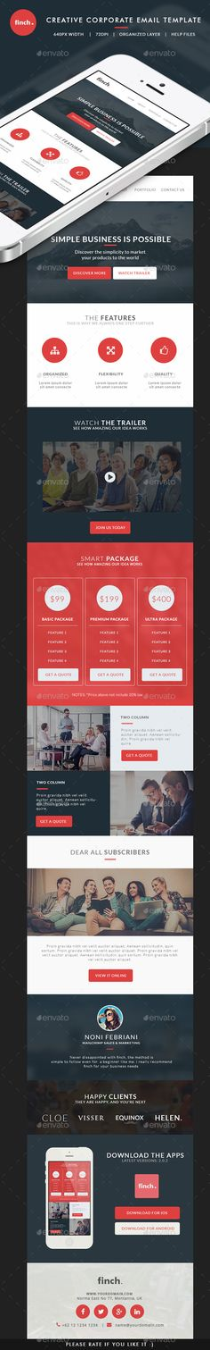 Email template on Behance webdesign Pinterest Behance - business email template