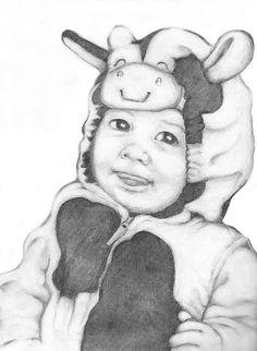 Sketch for portrait of Sophie