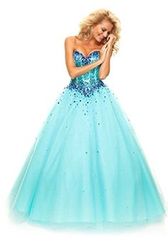 MisDress Sweetheart Floor Length Tulle Ball Gown Prom Dress (6, Turquoise) MisDress http://www.amazon.com/dp/B00RG8ZS2E/ref=cm_sw_r_pi_dp_3VIRub066EFMD