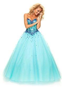 MisDress Sweetheart Floor Length Tulle Ball Gown Prom Dress (6, Turquoise) MisDress http://www.amazon.com/dp/B00RG8ZS2E/ref=cm_sw_r_pi_dp_3VIRub066EFMD