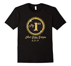 Amazon.com: Total Solar Eclipse Shirt for Kids My 1st First Womens Mens: Clothing