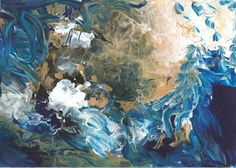 Moana Te Tupuhi - in English, it means Stormy Seas // was inspired by surrounding seas of Aotearoa (a.a New Zealand) Stormy Sea, New Print, Moana, New Zealand, Abstract Art, A2 Size, Seas, Prints, Painting