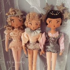 Curious Pip-How gorgeous are these dolls! Pretty Dolls, Beautiful Dolls, Antique Dolls, Vintage Dolls, Pin Up, Little Doll, Doll Maker, Waldorf Dolls, Barbie