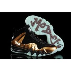 sports shoes ca8c4 68696 Buy 2013 New Nike Barkley Posite Max Black Gold Shoes Shop