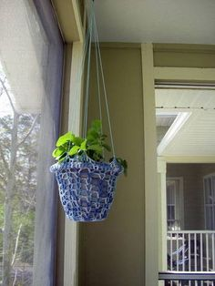 Hanging Plant Holder - CROCHET  craftster.org