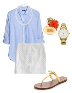 """Untitled #111"" by theprepworld ❤ liked on Polyvore featuring H&M, J.Crew, Tory Burch, Coach and Kate Spade"