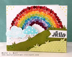 "hero arts cloud stamp | Supplies: SC/Hero Arts ""Hooray"" stamp set, Fiskars Cloud Punches ..."