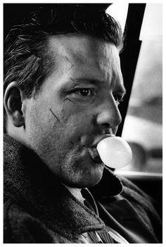 ♂ Man portrait black & white Mickey Rourke by Helmut Newton, 1986