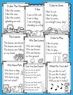 40 Sight Word Poems for Shared Reading