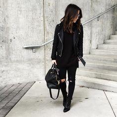 """""""When in doubt, black on black on black ➰   Outfit details: @liketoknow.it www.liketk.it/2bK5F #liketkit #veryvince"""""""