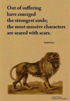Out Of Suffering - Kahlil Gibran Quote - Erica Massaro, Great Quotes, Quotes To Live By, Me Quotes, Motivational Quotes, Inspirational Quotes, Lion Quotes, Positive Quotes, Left Out Quotes, Hang In There Quotes