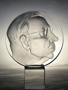 Alexandr FOKIN Drilling Glass, Sculpture Art, Sculptures, Sandblasted Glass, Glass Engraving, Glass Etching, Glass Panels, Fused Glass, Glass Art