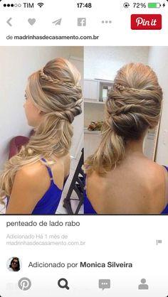 Penteado lateral preso