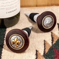 These unique wine bottle stoppers are handcrafted one at a time in a small Texas woodworking shop. Cool Wood Projects, Wood Turning Projects, Lathe Projects, Wine Bottle Stoppers, Wine Bottle Holders, Bottle Opener, Wine Tasting Near Me, Wine Coolers Drinks, Liquor Glasses