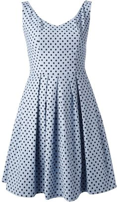 $326, Light Blue Polka Dot Casual Dress: Polka Dot Print A Line Dress by Pinko. Sold by farfetch.com. Click for more info: http://lookastic.com/women/shop_items/33619/redirect