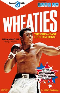 Wheaties/Muhammad Ali 2.15.12 by GeneralMills, via Flickr Muhammad Ali Boxing, Muhammad Ali Quotes, Fifa, Image Meme, Alabama, Boxing Posters, Boxing History, Float Like A Butterfly, Boxing Champions