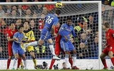 Chelsea 1 Liverpool 1 in Nov 2012 at Stamford Bridge. John Terry rises to head Chelsea into the lead #Prem