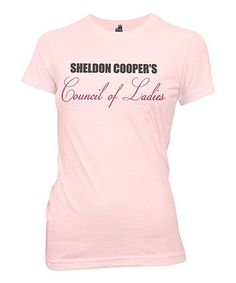 Love this Light Pink 'Council of Ladies' Fitted Tee - Women by The Big Bang Theory on #zulily! #zulilyfinds